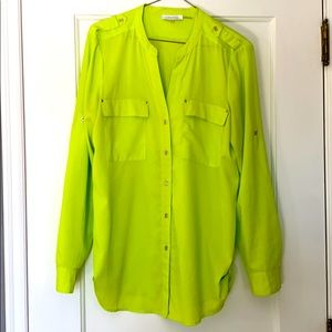 Calvin Klein button down tunic